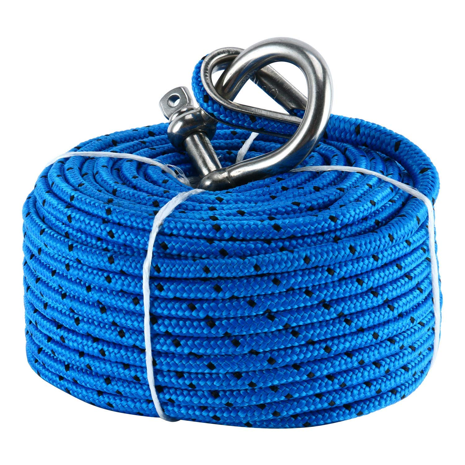 BLUE PVC coated galvanized steel CABLE strand wire rope metal sailing boat winch