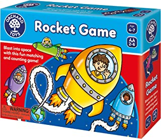 ORCHARD TOYS Rocket Game, Fun and Educational Space Counting Game Perfect for Home Learning, Develops Matching, Memory, an...