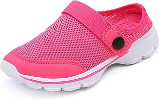 CELANDA Kids Clogs Anti-Slip Mules Boys Girls Garden Shoes Breathable Mesh Slippers Beach Sandals Lightweight Slip On Shoe...