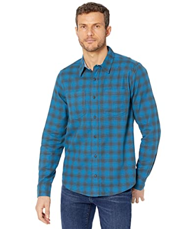 Toad&Co Flannagan Long Sleeve Shirt (Ox Blue) Men