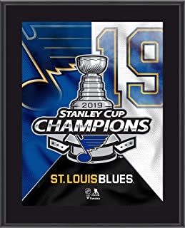 """St. Louis Blues 2019 Stanley Cup Champions 10.5"""" x 13"""" Champions Logo Sublimated Plaque - NHL Team Plaques and Collages"""