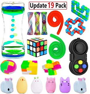 EDsportshouse Sensory Fidget Toys Bundle(17 Pack),Sensory Fidget and Squeeze Widget for Relaxing Therapy,Stress Relief Fidget Hand Toys for Kids Adults with ADHD ADD Anxiety Autism & More
