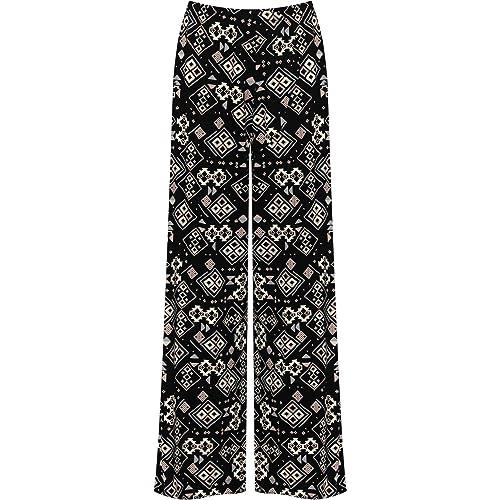 1a94e350e5c WearAll Plus Size Womens Floral Print Ladies Wide Leg Palazzo Trousers Pants  - 16-26
