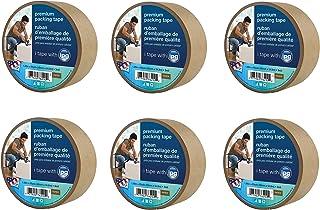 Intertape Polymer Group 9341 Kraft Paper Flatback Carton Sealing Tape, 1.88-Inch x 60-Yard, Sold as 6 Pack