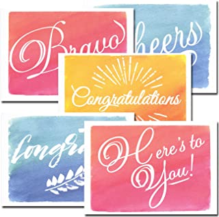 Congratulations Cards: Colorful Assortment –30 Boxed Blank Note Cards Made in USA + 32 Env by CroninCards