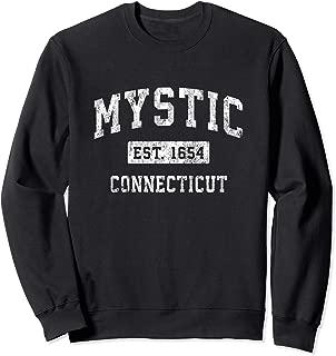 Mystic Connecticut CT Vintage Established Sports Design Sweatshirt