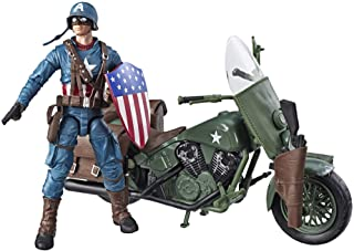 """Best Marvel Legends Series 6""""-Scale Captain America Collectible Action Figure with Motorcycle, Shield, & Helmet Accessories Review"""