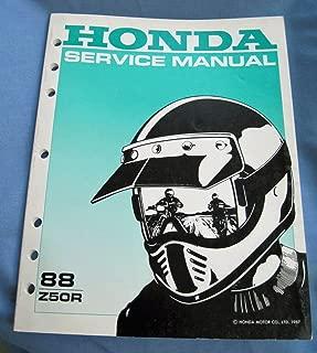 1988 Honda Motorcycle Z50R Service Manual