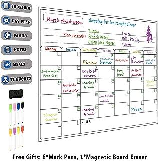 Calendario magnético para nevera, pizarra de borrado en
