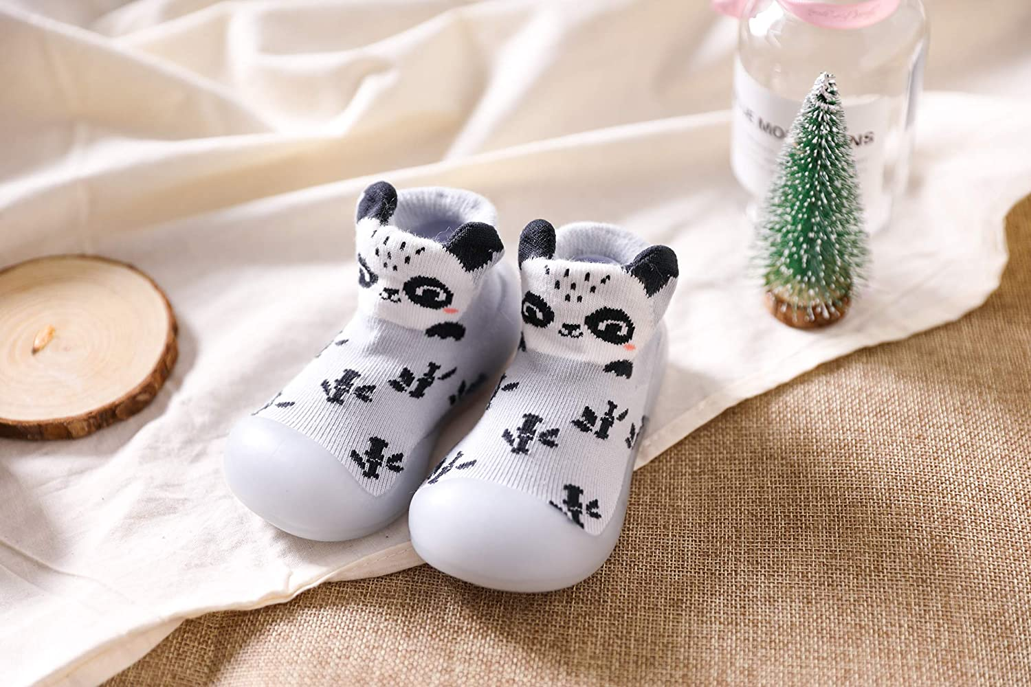 Baby Toddler Shoes Sock Non-Skid Breathable Soft TPE Sole Floor Slipper Indoor Outdoor Winter Warm Infant Shoes Socks