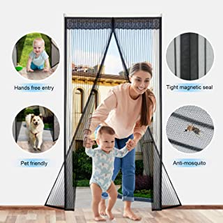 Magnetic Screen Door,Durable Heavy Duty Mesh Curtain with Fly Mosquito Screens and Easy Installation Full Frame Velcro,Fits 36