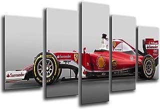 Poster Fotográfico Coche Formula 1, Ferrari F1, Sebastian Vettel Tamaño total: 165 x 62 cm XXL