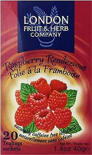 London Fruit & Herb Company Raspberry Rendezvous Tea, 20 Tea Bags, 1.4 Oz
