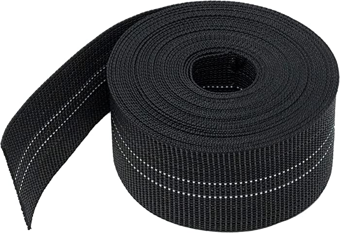 House2Home Webbing for Lawn Chairs and Furniture, Upholstery Webbing to Repair Couch Supports for Sagging Cushions, 3 Inch Wide by 40 Foot Roll 10% Stretch Elastic Chair Webbing Replacement