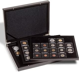 LEUCHTTURM1917 Presentation case for 60 QUADRUM Coin Capsules, Black, 3 Trays