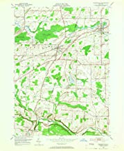 YellowMaps Churchville NY topo map, 1:24000 Scale, 7.5 X 7.5 Minute, Historical, 1950, Updated 1967, 26.9 x 22 in
