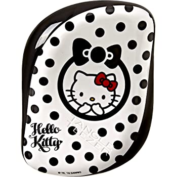 Tangle Teezer Compact Styler Hello Kitty Detangling Hairbrush, Black/White