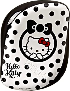 Tangle Teezer Hello Kitty Compact Styler Detangling Hairbrush Black-White for Women, 1 Piece Hair Brush,