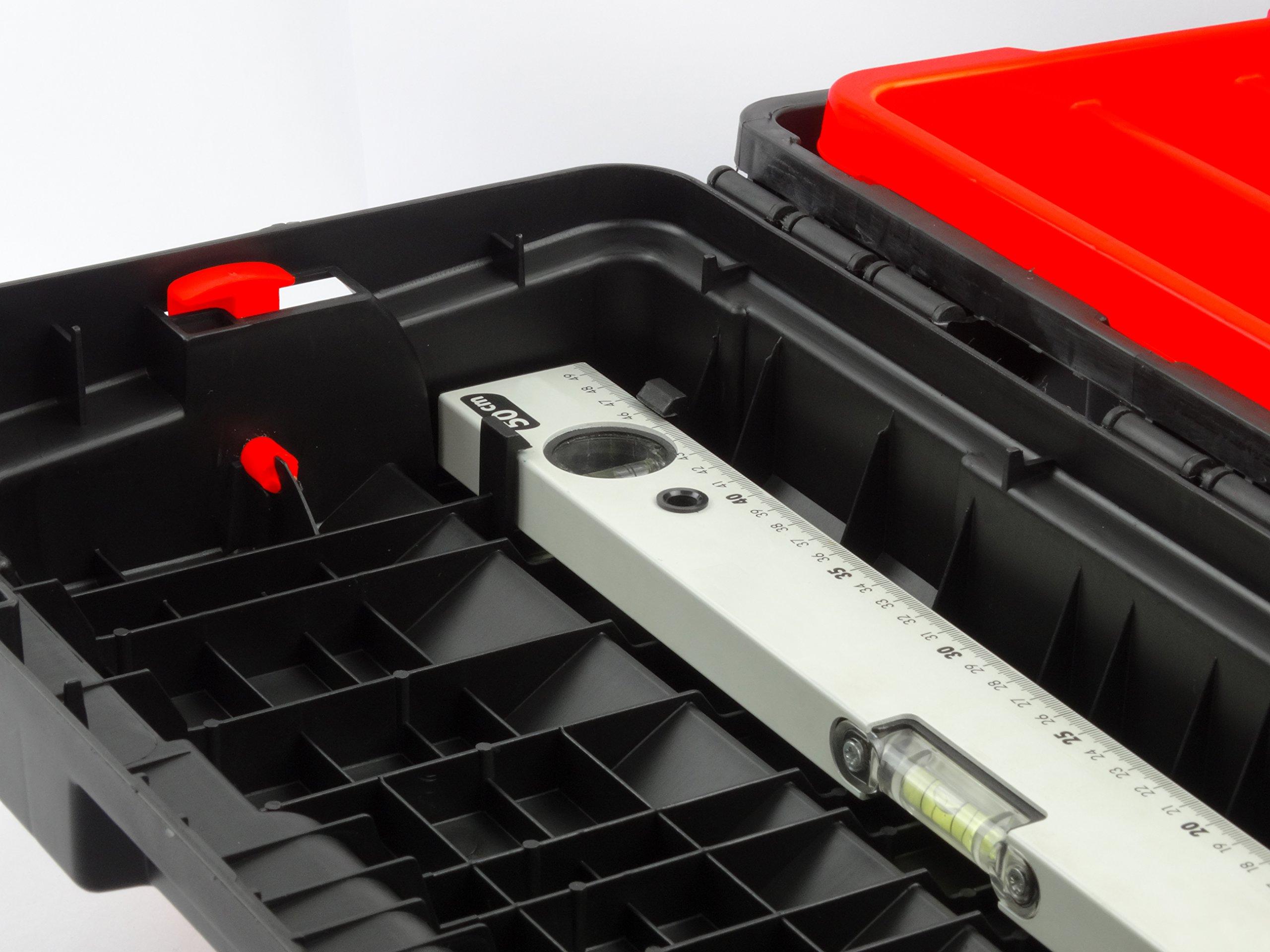 Tayg 173004 Caja de herramientas de plástico-aluminio 650-E, negro ...