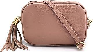 ELIOX Borsa Donna Vera Pelle Made In Italy Piccola Borsetta a Tracolla Elegante Moda Crossbody Bag Genuine Leather