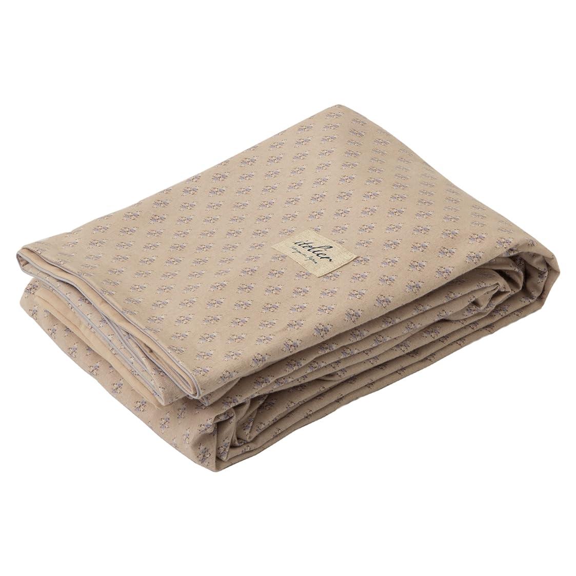叫び声デュアルそこから西川(Nishikawa) 掛け布団カバー ベージュ シングル 日本製 綿100% イトリエ ナチュラルプリント柄 PI08800049BE