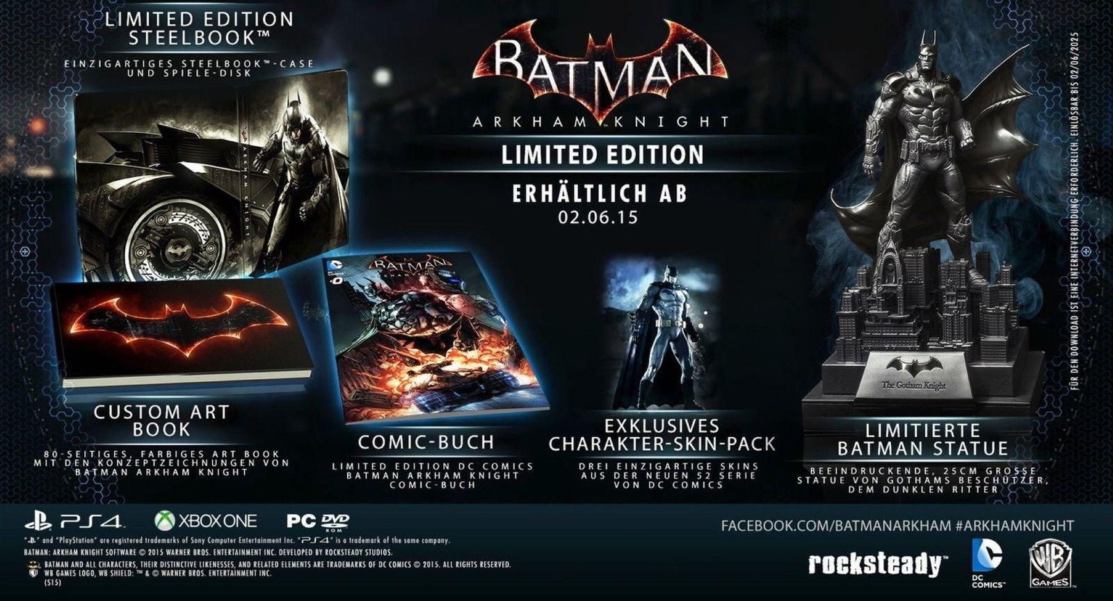 Edición Xbox Un juego de Batman Arkham Knight limitada de ...