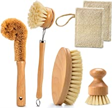 Leadhom 6pcs Environmental Kitchen Cleaning Brush Set Dish Household Brush-1Dish Brush, 1Oval Scrubbing Brush, 1Bottle Bru...