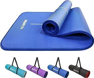 PROIRON Yoga Mat Eco Friendly NBR All-Purpose 10mm Thick Non-Slip Exercise Mat High Density Anti-Tear Pilates Mat with Car...