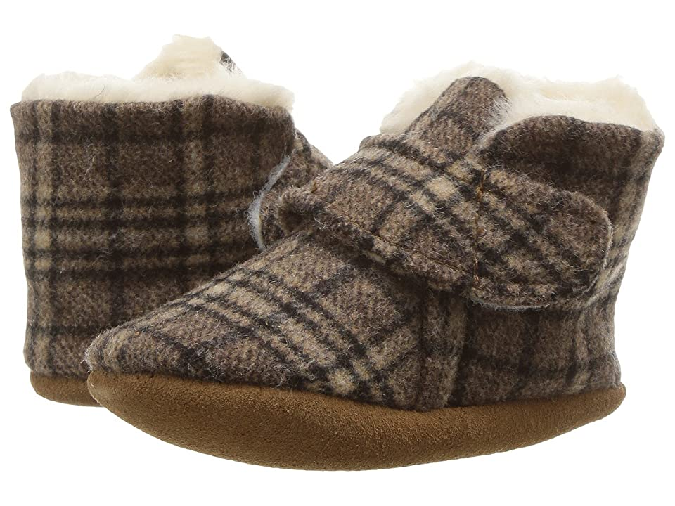Minnetonka Kids Sawyer Bootie (Infant/Toddler) (Brown Plaid) Kids Shoes
