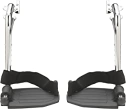 Drive Medical Swing Away Footrests with Aluminum Footplates, Black