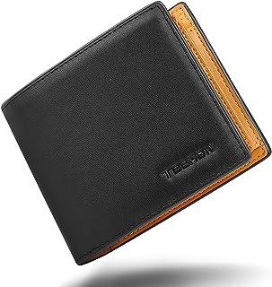 TEEHON® Portafoglio Uomo Vera Pelle Blocco RFID, con 17 Porta Carte di Credito, Tasca Portamonete, 2 Scomparti Banconote, ...