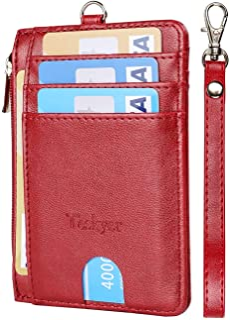 Slim Minimalist Wallet, RFID Blocking Credit Card Holder, Front Pocket Leather ID Wallet Case for Men Women