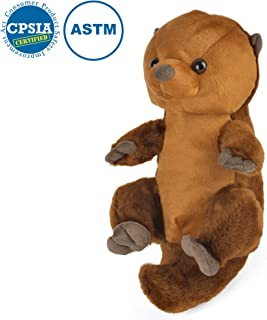 LotFancy Sea Otter Stuffed Animal Plush, Floppy Cute Cuddly Stuffed Sea Otter, Perfect Themed Party Gifts for Kids on Birthday Thanksgiving Day, Christmas Day, Brown