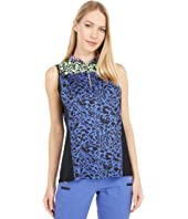 Feline Print Sleeveless Top