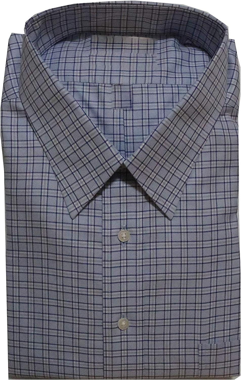 Gold Label Roundtree & Yorke Non-Iron Regular Point Collar Check Dress Shirt G16A0191 Blue Multi