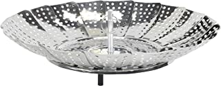 Chef Craft 100% Stainless Steel Steamer Basket, 6-Inch Expands to 9.5-Inch