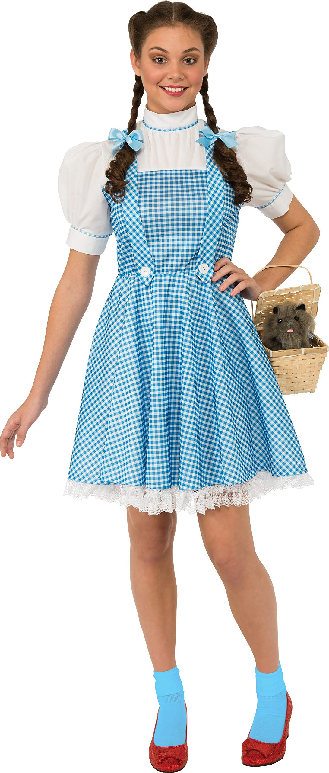 Rubie's Costume Women's Wizard Oz Adult Dorothy Dress Hair Bows