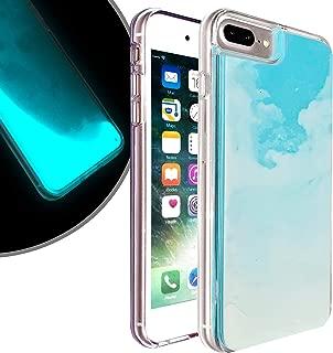 VenSen Liquid Fluorescent Case for Apple iPhone 7plus / iPhone 8plus 5.5 inch Soft TPU Luxury Glow in The Darkness Noctiluncen Luminous Neon Sand case 7 Plus / 8 Plus (Blue)