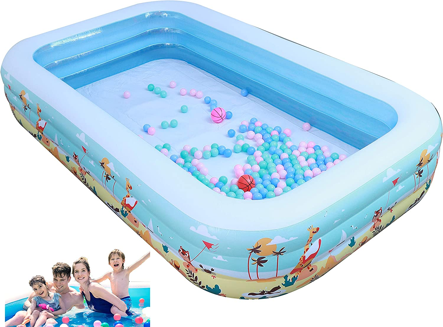 Inflatable Pool Blow Up Regular Nippon regular agency store Ground for Full-Sized Kids Swimming
