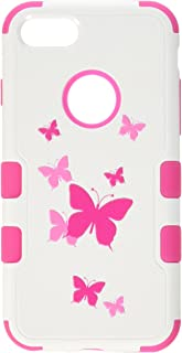MyBat Cell Phone Case for iPhone 7 - Butterfly Dancing/hot Pink