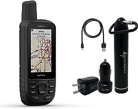 Garmin GPSMAP 66s Multisatellite Handheld GPS Unit with Sensors and Wearable4U Ultimate Power Pack Bundle (66st (US/Canada TOPO Maps)