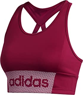 adidas W D2m Brnd BT Workout Bra-Light Support, Women, Womens, GD4637, Black/White