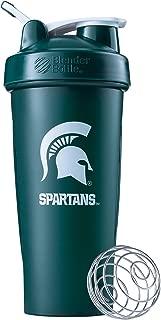BlenderBottle Collegiate Classic 28-Ounce Shaker Bottle, Michigan State University Spartans - Green/Green