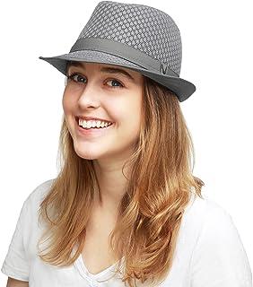 d911fc6b425 Black Horn Light Weight Classic Soft Cool Mesh Fedora hat