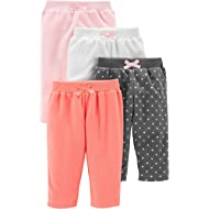 Baby Girls' 4-Pack Fleece Pants