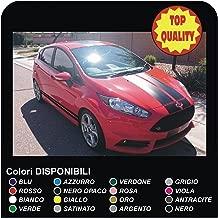 Pegatinas rayas coche vinilo calcomanías tiras gráficas adhesivos adhesivos Racing pegatinas Tuning pegatinas calcomanías (BLANCO MATE)