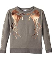 Chloe Kids - Milano Sweater w/ Copper Horses (Big Kids)