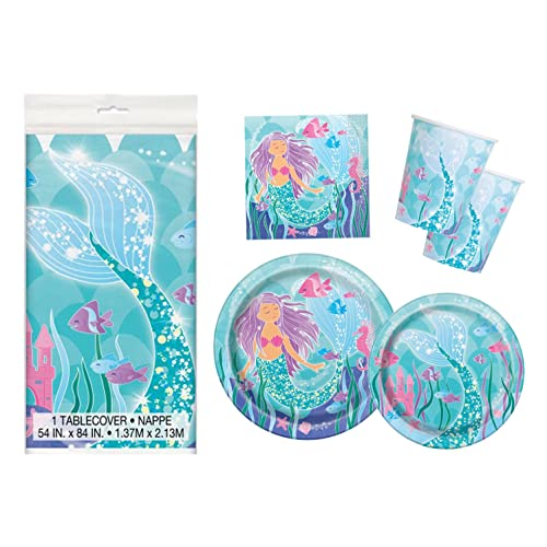 Mermaid Birthday Party Supplies Pack - Serves 16 Supplies: Amazon.com