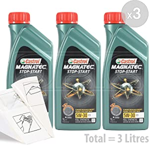 Castrol Magnatec 5W-30 Fully Synthetic Car Engine Oil Service Pack  litres