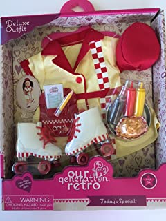 NEW! Our Generation Retro Car Hop Diner Deluxe Outfit for most 18 Dolls